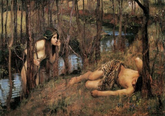 Waterhouse, John William: A Naiad. Mythical Fine Art Print/Poster. Sizes: A4/A3/A2/A1 (00851)